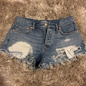 Free people size 24 jean shorts